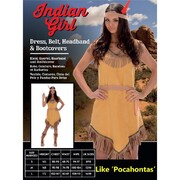 Adult Indian Girl Costume (Medium, 12-14)