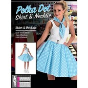 Adult 50's Blue Polka Dot Skirt & Necktie (Medium, 12-14) Pk 1