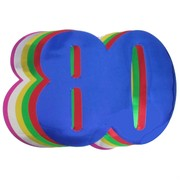 Foil Cutout Numeral 80 Assorted Colours Pk12