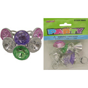 Gem Rings Party Favours Pk 6