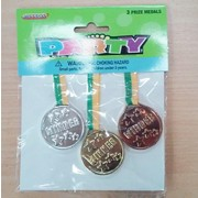 Prize Medal Party Favours Pk 3
