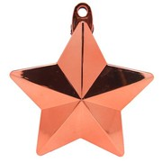 Rose Gold Star Balloon Weight Pk 1