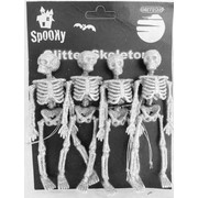 Glittered Skeleton (15cm) Pk 4