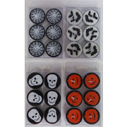 Assorted Halloween Tealight Candles (4 Packs of 6)