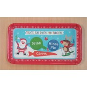Christmas Design Melamine Sandwich Tray Pk 1