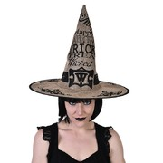 Adult Retro Hessian Witch Hat Pk 1