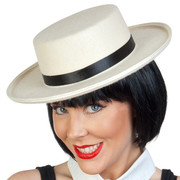 Cream Boater Hat - Feltex Pk 1