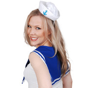 Adult Mini Sailor Set (Blue Collar & Mini Hat Only) Pk 1