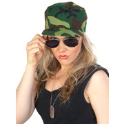 Military Set - Camo Cap, Glasses & Dog Tag Pk 1