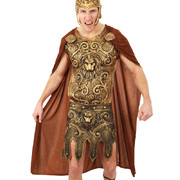 Brown Warrior Cape - Adult (Cape & Pin On Medallions Only) Pk 1