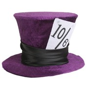 Mini Purple Velvet Deluxe Mad Hatter Hat Pk 1