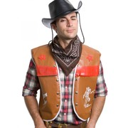 Adult Cowboy Set (Brown Vest & Black Bandana) Pk 1