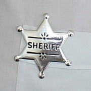 Small Silver Sheriff Badge (6cm) Pk 1