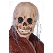 Adult Full Head Skull Mask with Wispy Hair Pk 1