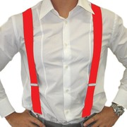 Adult Red Braces - Suspenders Pk 1