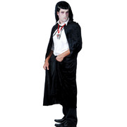 Adult Black Velvet Cape with Hood (Cape Only)