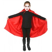 Child Red Satin Vampire Cape (75cm) Pk 1 (CAPE ONLY)