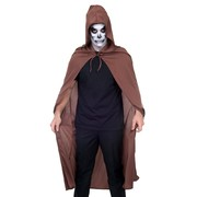 Halloween Adult Brown Cape with Hood Pk 1 (CAPE ONLY)