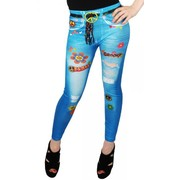 Hippy Jeans-look Tights (Size 8-12) Pk 1