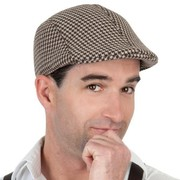 Brown Tweed Flat Cap Hat Pk 1