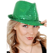 Green Sequin Trilby Hat Pk 1