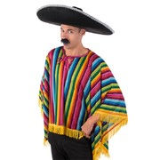 Adult Mexican Bright Serape Costume Poncho Pk 1 (PONCHO ONLY)