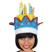Plush Birthday Hat with Candles Pk 1