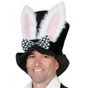 Black Top Hat with Bunny Ears Pk 1