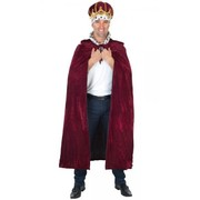 Burgundy Kings Cape (Cape Only - Adult Costume) Pk 1