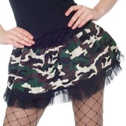 Adult Camo Skirt Costume (Size 8-12) Pk 1