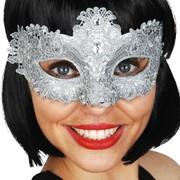 Crystal Silver Lace Eye Mask Pk 1