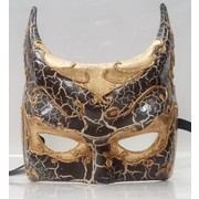 Gotham Black and Gold Eye Mask Pk 1