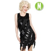 Black Sequin Flapper Dress (Adult Size - Medium) Pk 1