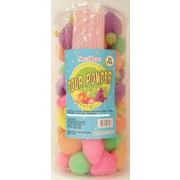 Assorted Sour Powder Fruit Shapes with Straws (8g) Pk Approx. 55