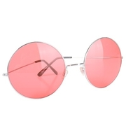 Large Lennon Glasses Rose Lenses Pk 1