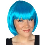 Aqua Blue Paige Bob Wig With Fringe Pk 1