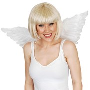Medium White Feather Wings (70cmx30cm) Pk 1
