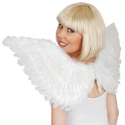 Large White Feather Wings (90cmx50cm) Pk 1