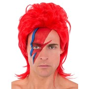 Ziggy Red Mullet Wig Pk 1
