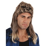 Billy Blonde and Brown Mullet Wig Pk 1
