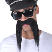 Long Black Moustache Pk 1 (Moustache Only)