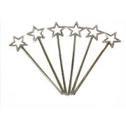 Mini Princess Silver Diamante Fairy Wand Party Favours Pk 6