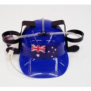 Adult Beer Drinking Hat with Australian Flag Pk 1