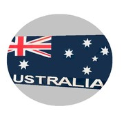 Aussie Flag Australia Day Table Runner (1.5m) Pk 1