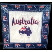 Australia Day Australian Aussie Flag Lunch Napkins Pk 20