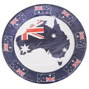 Aussie Map & Flags Australia Day 23cm Paper Plates Pk 10