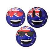 Australia Day Aussie Emoticon 23cm Assorted Paper Plates Pk 30