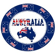 Aussie Map & Flags Australia Day Oval Paper Plates Pk 6
