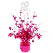 Centrepiece Weight and Pick 18 Pink Pk1