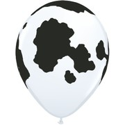White Cow Print AOP Latex Balloons Pk 50